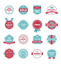 Set of retro labels stickers badges vector