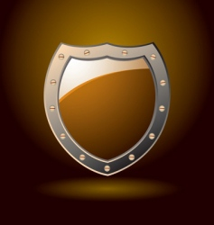 Secure shield blank vector