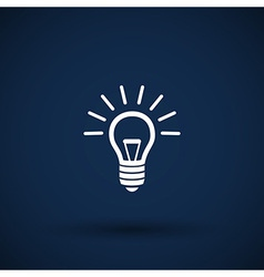 Light bulb icon lamp vector