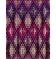 Knit woolen seamless jacquard ornament vector
