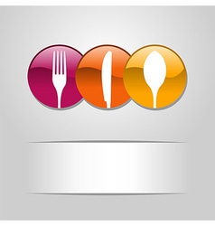 Food web button icons vector