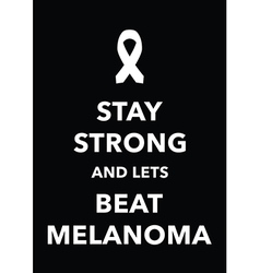 Melanoma poster vector