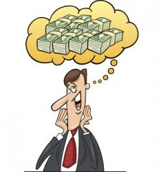 Businessman profit vector