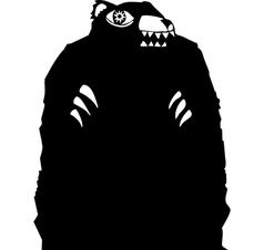 Black bear vector