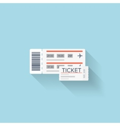 Flat web icon paper ticket vector