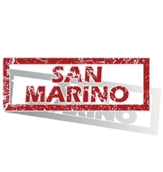 San marino outlined stamp vector