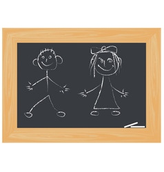 Children on white board vector