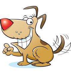 Cartoon smiling dog vector