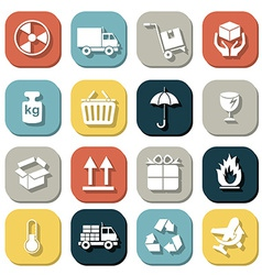Logistic and packing icon vector