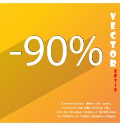 90 percent discount icon symbol flat modern web vector