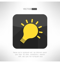 Light bulb icon in modern flat design creativity vector