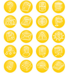 Yellow cms icons vector