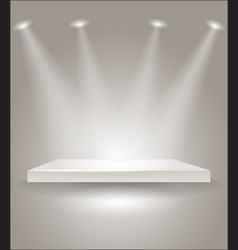 Bright stage with spot lights vector