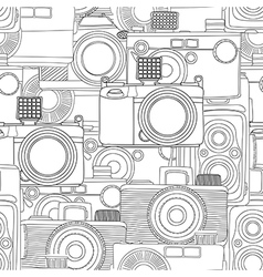 Seamless photography pattern vector