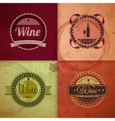 Set of wine vintage labels vector