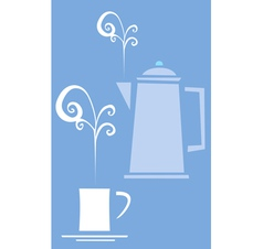 Retro 70s coffee image vector