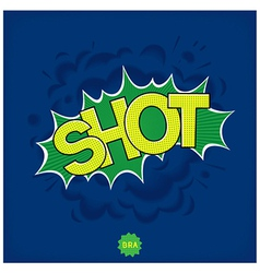 Brazilian football shot comic vector