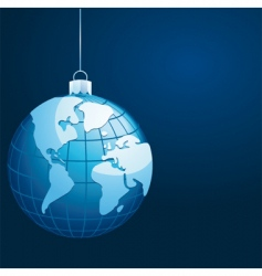 Globe with world map vector