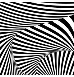 Design monochrome convex movement background vector