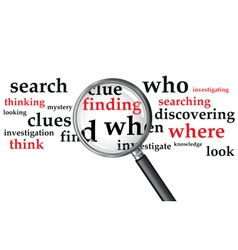 Magnifying glass search vector