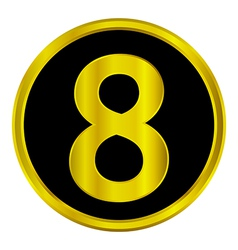 Number eight button vector