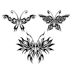 Flaming butterflies vector