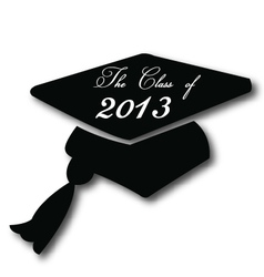 Graduation hat for the class of 2013 vector