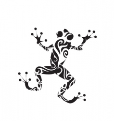 Frog tattoo vector