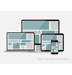 Fully responsive web design concept vector