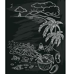 Beach poster vector