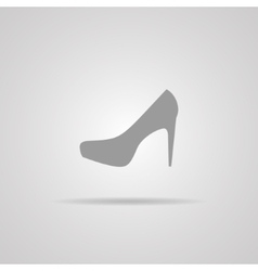 Elegant womens shoe - icon vector