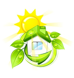 Green eco home vector