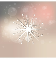 Elegant snowflake on abstract background vector