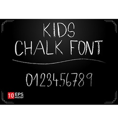 Kids chalk font vector