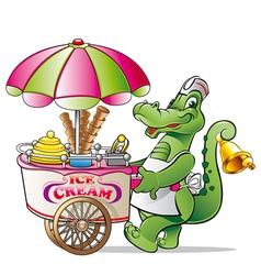 Alligator ice cream vector