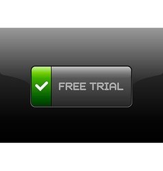 Free trial button vector