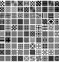 100 geometric seamless patterns set vector