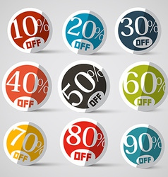 Discount circle labels vector