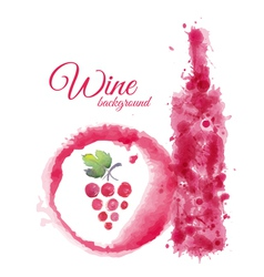 Artistic watercolor wine background vector