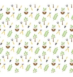 Gardening seamless pattern vector