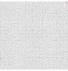 Perfect maze vector