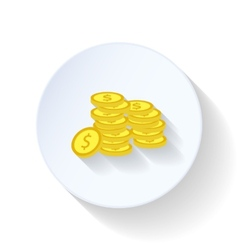 Pile of coins flat icon vector