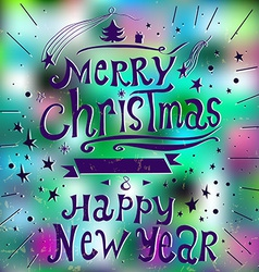Merry christmas and new year 2015 greeting card in vector