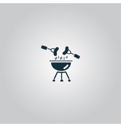 Grill or barbecue icon vector