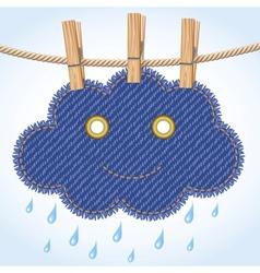 Rain cloud on a clothesline vector