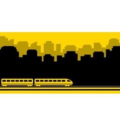Railway transport background vector