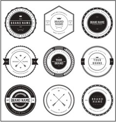 Vintage brand badge templates vector