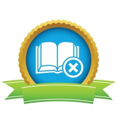Remove book icon vector