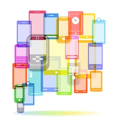 Abstract color speech cloud of modern mobile phone vector