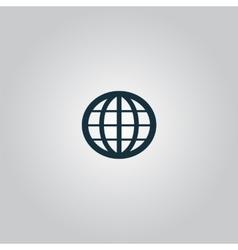 Earth globe emblem vector